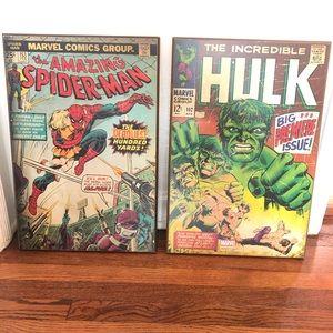 Hulk and Spider Man Wall Decor